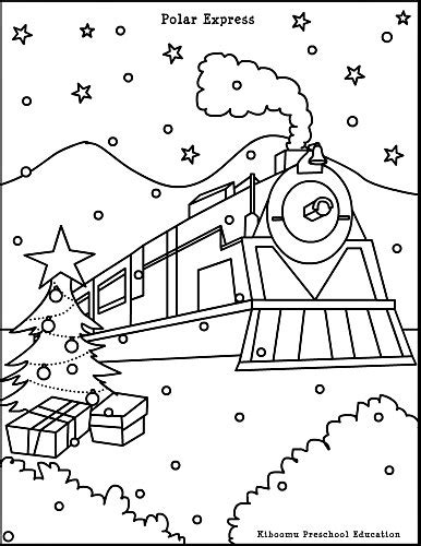 coloring pages of quot polar express quot