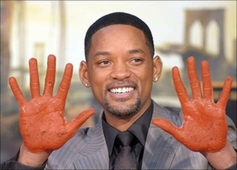 Will Smith Now Cemented In by Will Smith Makes An Impression At Landmark