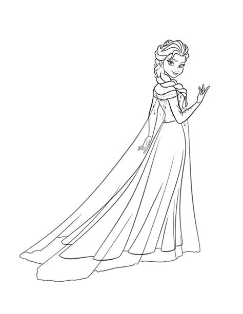 queen elsa printable coloring pages free coloring pages of princess elsa