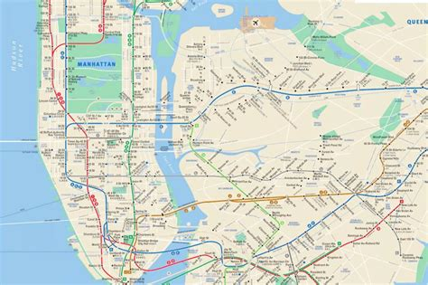mta subway map this map provides commuters with real time mta updates