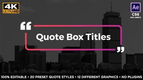 Quote Box Titles Corporate After Effects Templates F5 Design Com After Effects Quote Template