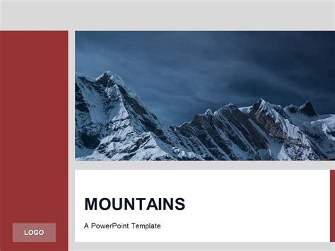 powerpoint templates free mountains red powerpoint template mountains presentationgo com