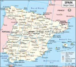 Spain Map With Cities by Google Image Result For Http Www Mapsofworld Com Spain