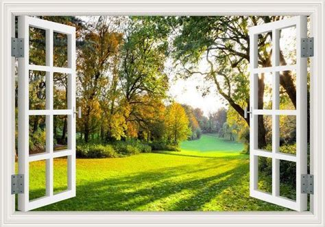 amazing forest tree  wall sticker removable window view