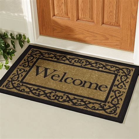 door welcome mat ottomanson oth2212 20x30 ottohome collection welcome door