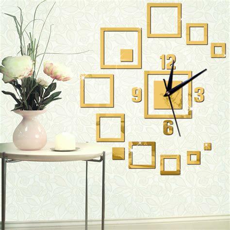home decor for sale luxury large wall clock 3d sticker big large decorative wall clocks modern design acrylic clock