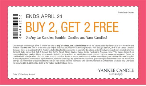printable yankee candle coupons march 2016 yankee candle buy 2 get 2 free any candles coupon in