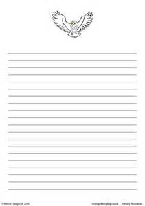 Owl Essay Writing by Primaryleap Co Uk Snowy Owl Writing Paper Worksheet