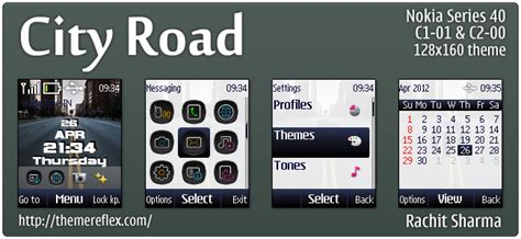 nokia 2690 best themes download city road theme for nokia c1 01 c2 00 2690 128 215 160