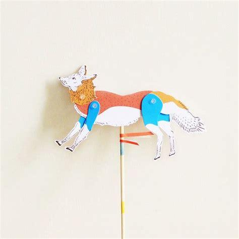 How To Make A Paper Fox Puppet - diy paper puppet fox