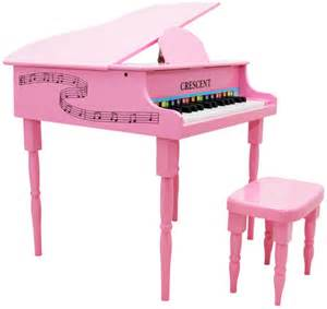 toddler piano with bench new crescent 30 keys pink baby toy grand piano with bench