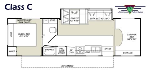 Class C Floor Plans | american rv adventures what we rent