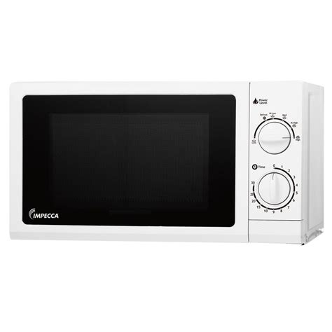 impecca 0 6 cu ft countertop microwave in white cm 0674w