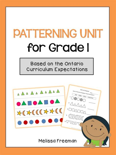 pattern lesson plans kindergarten a patterning unit for grade one based on the ontario