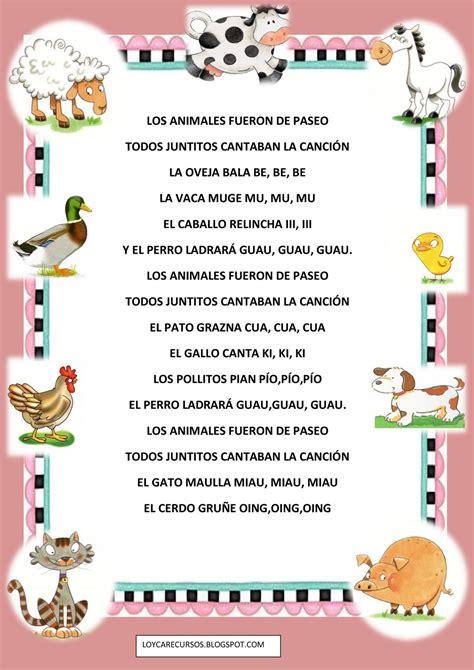 poema de los animales recursos de educaci 211 n infantil mayo 2010