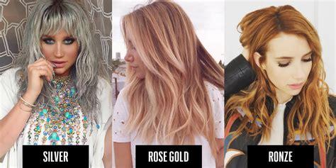 metallic hair color heavy metal hair trend 2016 metallic hair colors to try
