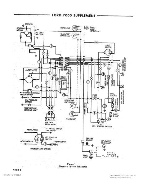1978 ford 7000 voltage regulator diagram wiring diagram