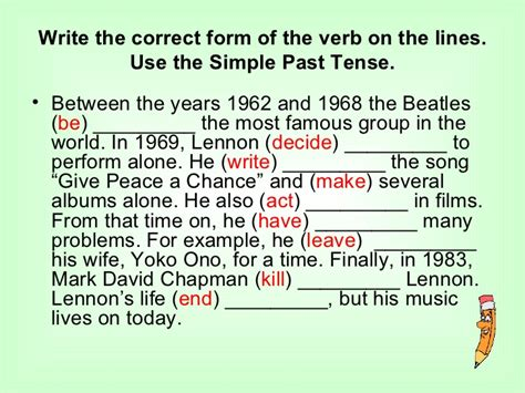 simple past tense present perfect tense exercises with answers ppt