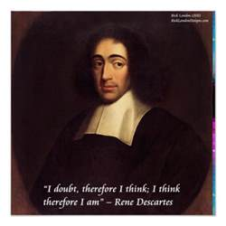 Designer Mugs Descartes Quot I Think Therefore I Am Quot Quote Poster Zazzle