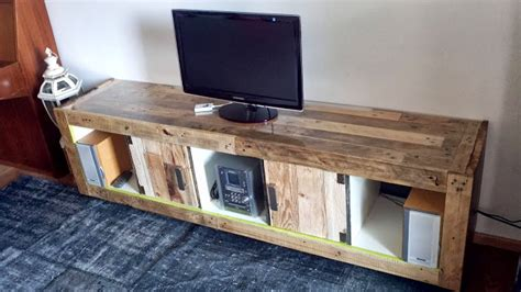 Reclaimed Wood Divider by Ikea Tv Stand Designs You Can Build Yourself