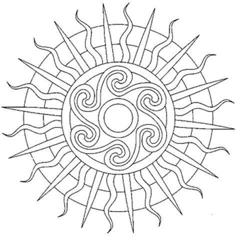Galerry sun mandala coloring page