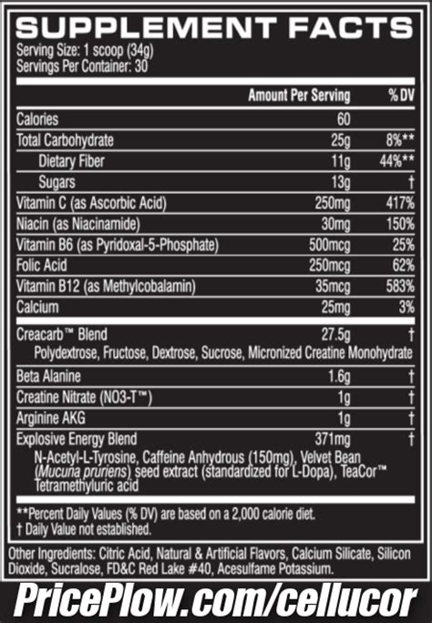 supplement ingredients cellucor c4 mass a bulker s c4 with fiber
