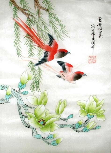 chinese artwork chinese silk painting is a model of