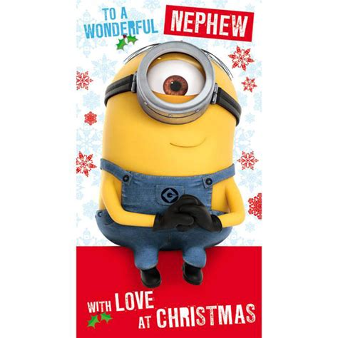 nephew minions christmas card dmx character brands