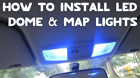 how to install led dome map lights in your car youtube