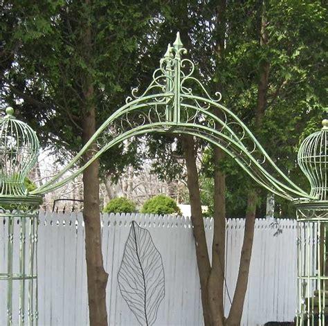 Metal Garden Arch Trellis Garden Trellis Arch 9 Wrought Iron Antique Mint