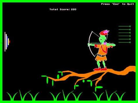 Graphics Design Using C | my 2nd year mini project an archery game designed in
