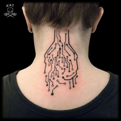 neck tattoo s 45 back of the neck tattoo designs meanings way to the