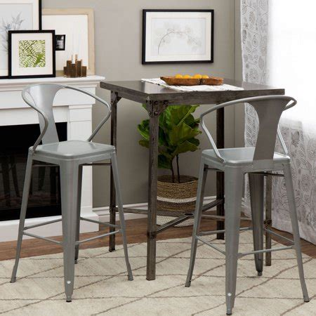 Tabouret Stool With Back by Tabouret Silver With Back 30 Inch Bar Stools Set Of 2