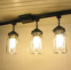 Track Lighting With Pendants Kitchens Vintage Canning Jar Track Lighting Created New For By Lgoods
