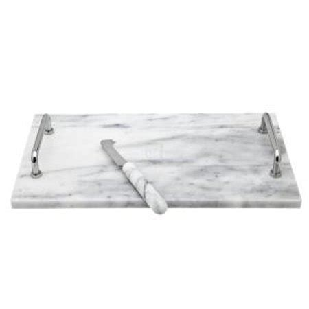 cucina marble la cucina marble cheese cutting board with knife and metal