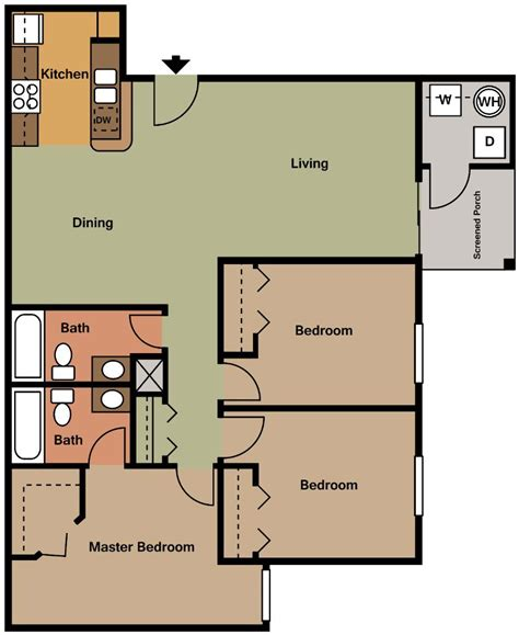 apartments rent floor plans 1 2 3 bedroom floorplans indian river apartments