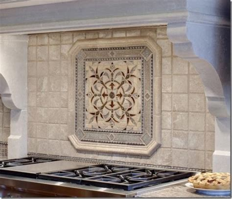 backsplash medallions kitchen 94 best kitchen images on kitchen countertops
