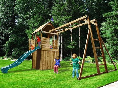 outdoor slides and swings dunster house balconyfort searcher outdoor wooden climbing