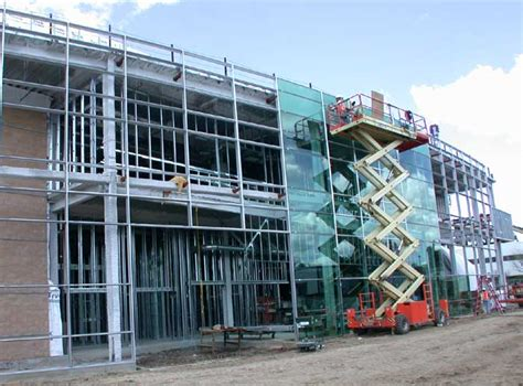 curtain wall installation the terascale simulation facility tsf construction scrapbook