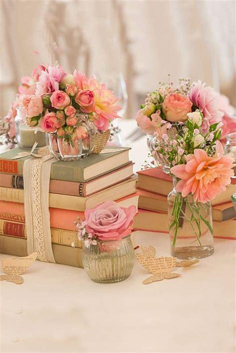 Wedding Table Decor Flowers by 39 Chic Book Themed Wedding Ideas Weddingomania
