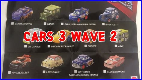 Diecast Mattel Mini Racers Cars 3 Wave 3 No 29 Florida Ramone Pink ซองส ม cars 3 mini racers wave 2 by ponplayplearn