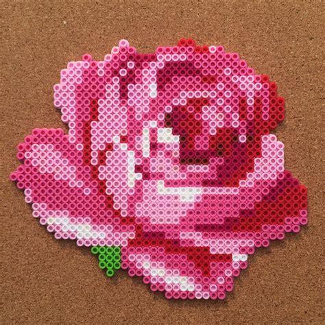 bead crafts flower perler by tsubasa yamashita pinteres