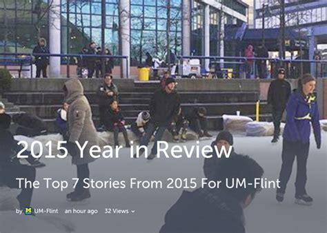 Um Flint Social Work Town by Um Flint S 2015 Year In Review