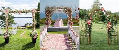 Decorated Wedding Arbors Wedding Arch Ideas You Ll Fall In Love With The Koch Blog