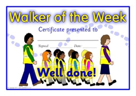 walking certificate templates printable walk to school certificates for primary ks1
