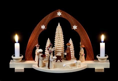 candle arch nativity scene 30 cm 12in by m 252 ller kleinkunst
