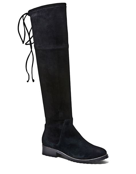 blondo snow knee high suede boots in black lyst