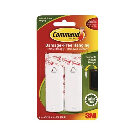 command large picture hanging strips walmart ca 051131869943 upc command sawtooth picture hangers white