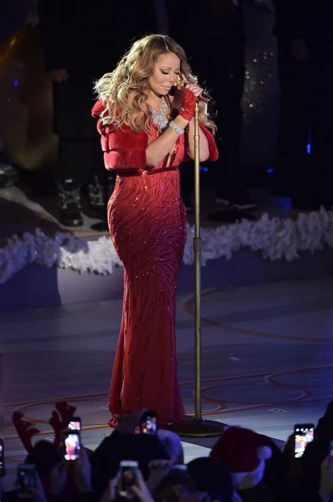 mariah carey at rockefeller christmas tree lighting