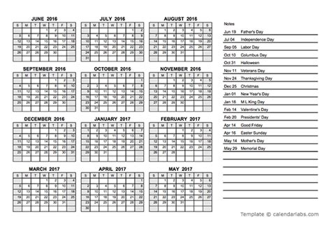 Academic Calendar Template Pdf 2016 Yearly Calendar Pdf Free Printable Templates